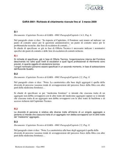 Gara0901-20090304-Richieste-di-chiarimenti