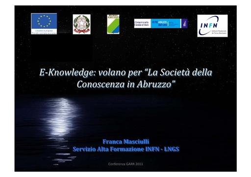 Conferenza GARR 2011 - Presentazione - Masciulli F.