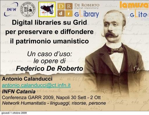 Conferenza GARR 2009 - Presentazione - Calanducci