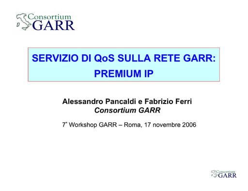 Ws07 - Presentazione - Pancaldi - Tinarelli