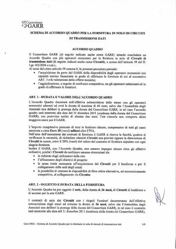Gara0902-AccordoQuadro-Circuiti-GARR