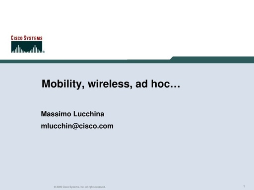 Conferenza GARR 2005 - Presentazione - Lucchina