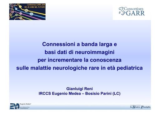 Conferenza GARR 2011 - Presentazione - Reni G.