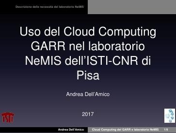 Ws17 - Presentazione - GdL Cloud - Dell'Amico