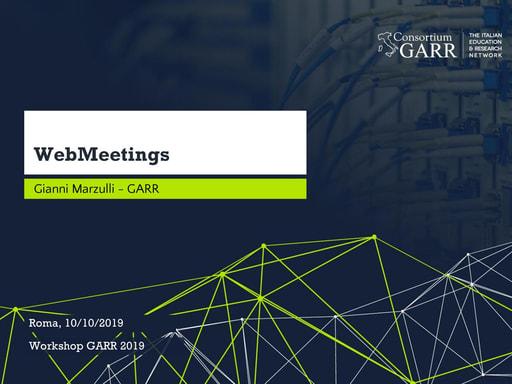 Workshop GARR 2019 - Presentazione - 01 - Marzulli