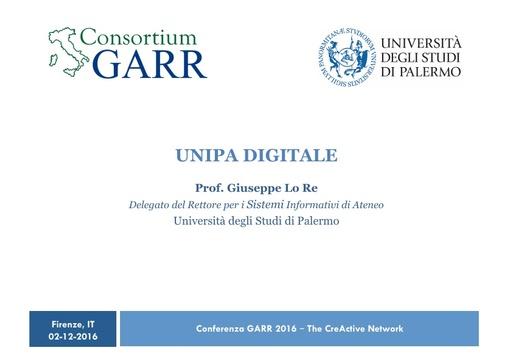 Conferenza GARR 2016 - Presentazione - Lo Re