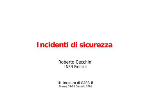 WS03 - Cecchini - GARR-CERT