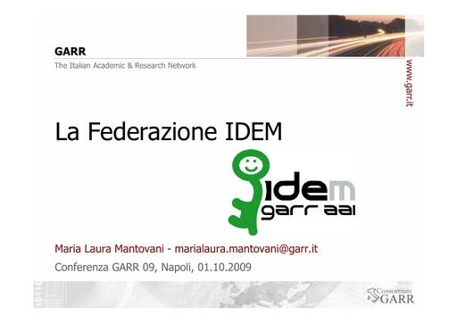 Conferenza GARR 2009 - Presentazione - Mantovani