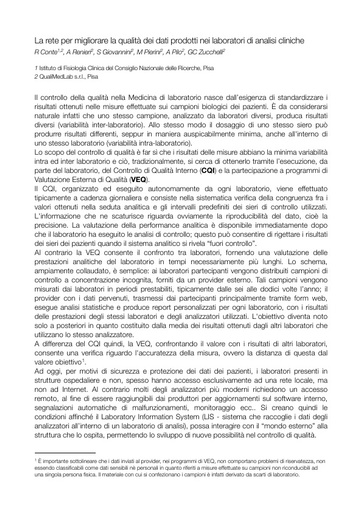 Conferenza GARR 2011 - Abstract - Conte R. - Renieri A.