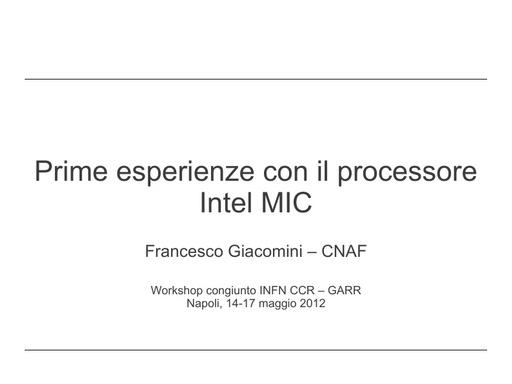 WS12 - presentazione - F. Giacomini