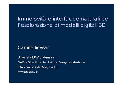 Conferenza GARR 2007 - Presentazione - Trevisan