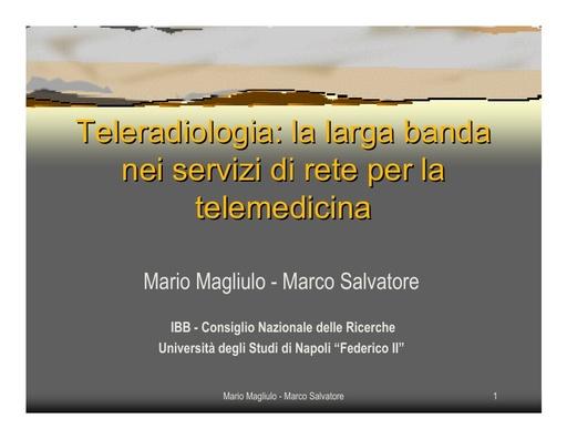 Conferenza GARR 2006 - Presentazione - Magliulo - Salvatore