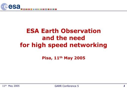 Conferenza GARR 2005 - Presentazione - Forcada