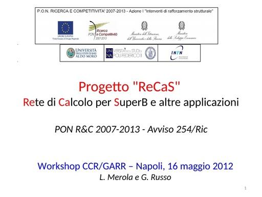 WS12 - presentazione - L. Merola - G.Russo