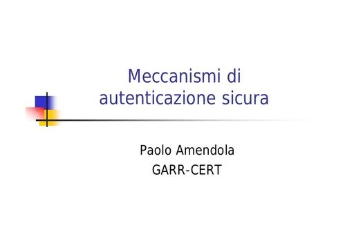 WS03 - Amendola - Meccanismi di autenticazione sicura