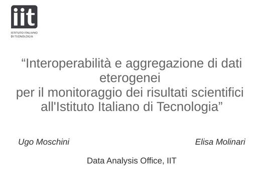 Conferenza GARR 2018 - Presentazione - Moschini