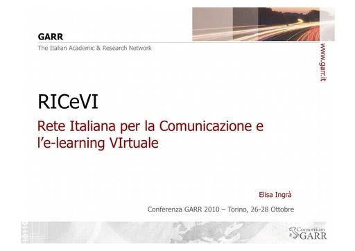 Conferenza GARR 2011 - Presentazione - Ingrà E.
