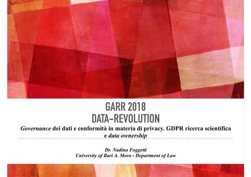 Conferenza GARR 2018 - Presentazione - Foggetti