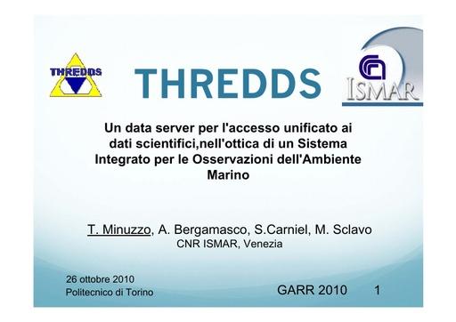 Conferenza GARR 2010 - Presentazione - Minuzzo