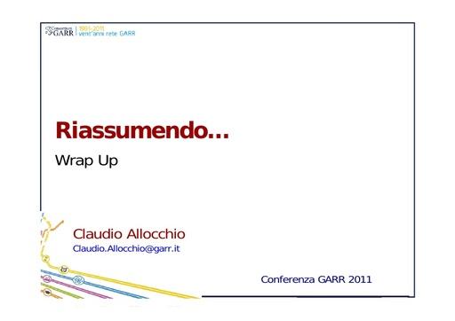 Conferenza GARR 2011 - Presentazione - Allocchio C.
