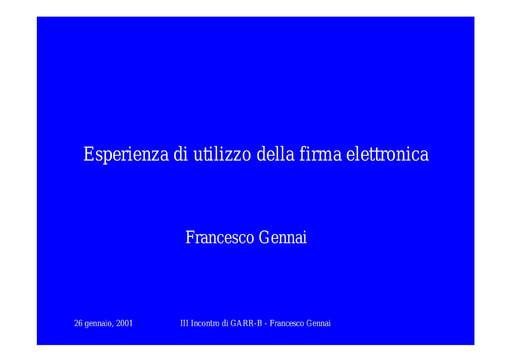 WS03 - Gennai - Organizzazione servizio e-mail