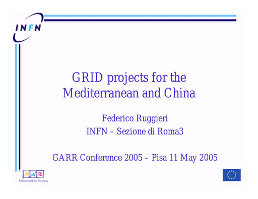 Conferenza GARR 2005 - Presentazione - Ruggieri