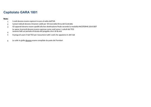 Bando 1801 - Allegato E - Dettaglio Costi