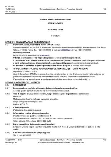 Gara0902-Supply_contract_Contract_notice_046830-2009_IT