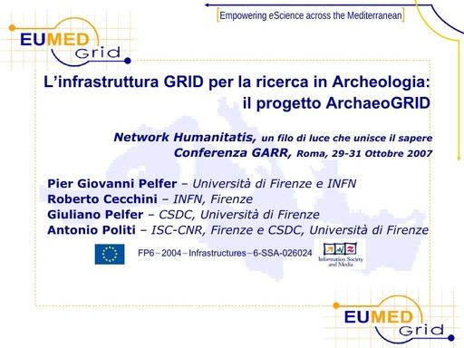Conferenza GARR 2007 - Presentazione - Pelfer