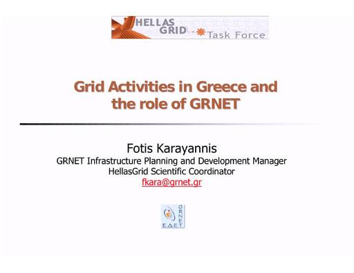 Conferenza GARR 2005 - Presentazione - Karayannis