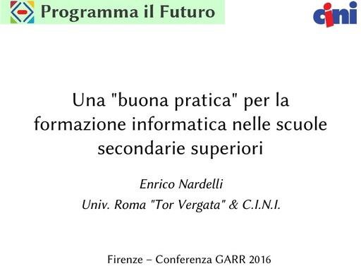 Conferenza GARR 2016 - Presentazione - Nardelli