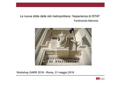 WS18 - F. Marrone - Le nuove sfide delle reti metropolitane