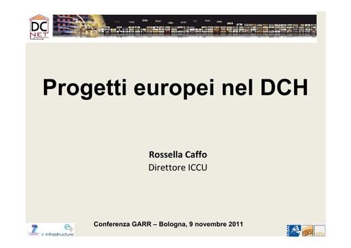 Conferenza GARR 2011 - Presentazione - Caffo R.