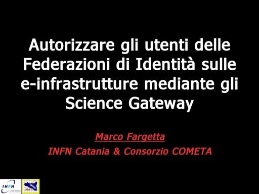 WS12 - presentazione - M. Fargetta
