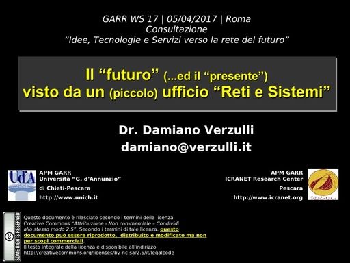 Ws17 - Presentazione - Verzulli