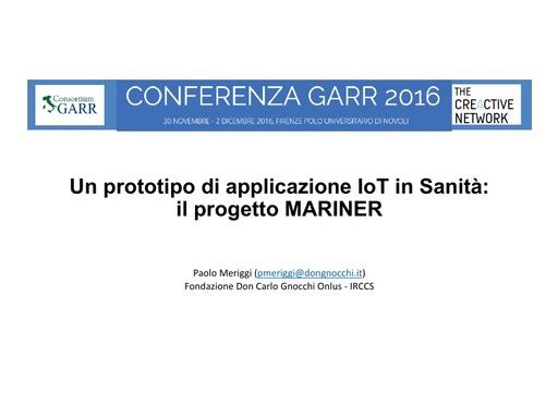 Conferenza GARR 2016 - Presentazione - Meriggi