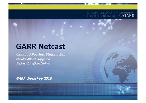 Ws16 - Presentazione - Gruppo di lavoro Netcast