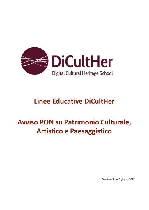 Avviso Patrimonio Culturale - Linee Educative DiCultHer