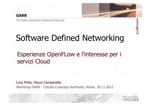 WsCSD12 - Presentazione - M. Campanella - L. Prete
