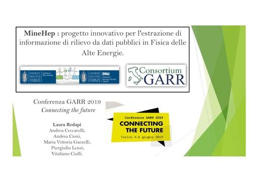Conferenza GARR 2019 - Presentazione - Redapi