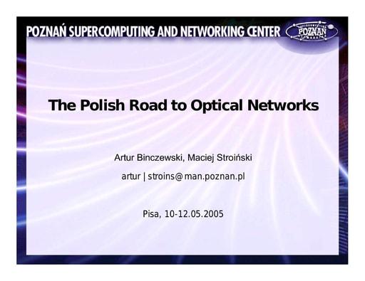 Conferenza GARR 2005 - Presentazione - Binczewski