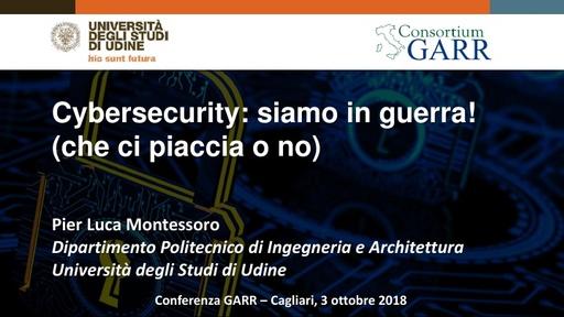 Conferenza GARR 2018 - Presentazione - Montessoro