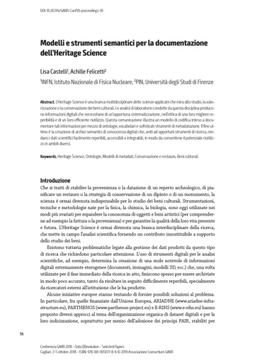 Selected Papers Conferenza 2018 - 10 - Castelli