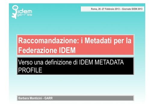 IV IDEM Day - presentazione - Monticini B.