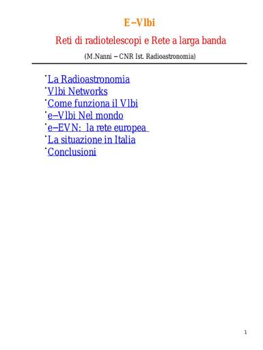 WS04 - Nanni - E−Vlbi