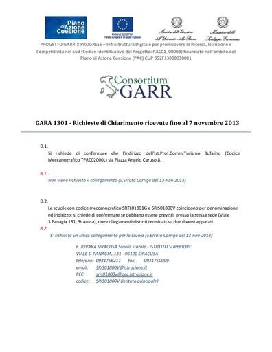 Chiarimenti Fibra - ver. 13/11/2013