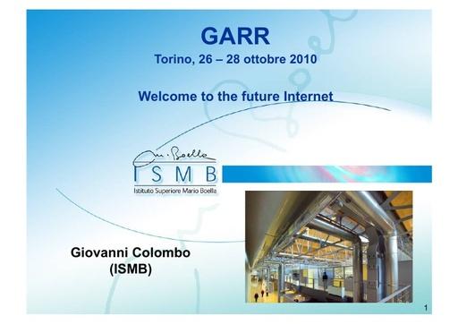 Conferenza GARR 2010 - Presentazione - Colombo
