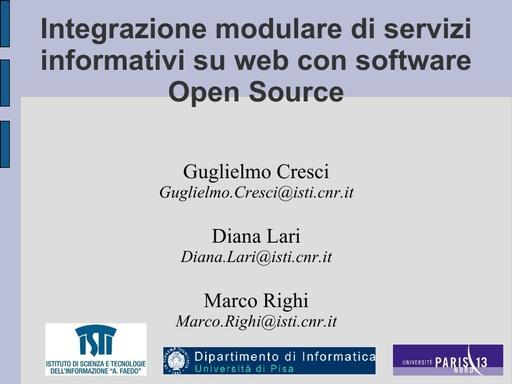 Conferenza GARR 2010 - Presentazione - Righi