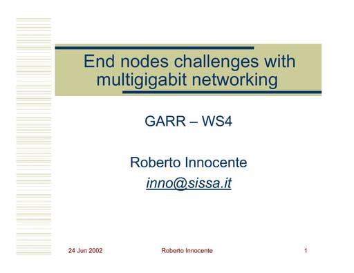 WS04 - Innocente - La sfida delle comunicazioni ad alta velocità nelle applicazioni end-to-end