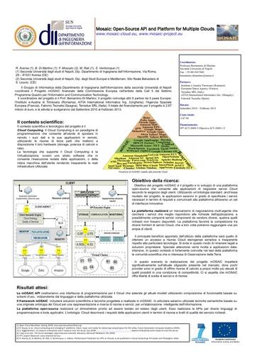 Conferenza GARR 2010 - Poster - Di Martino